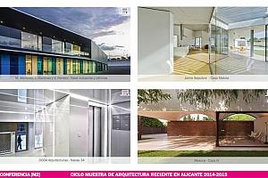 Conferencias de proyectos seleccionados en la Muestra de Arquitectura Reciente en Alicante 2014-2015 [M2]