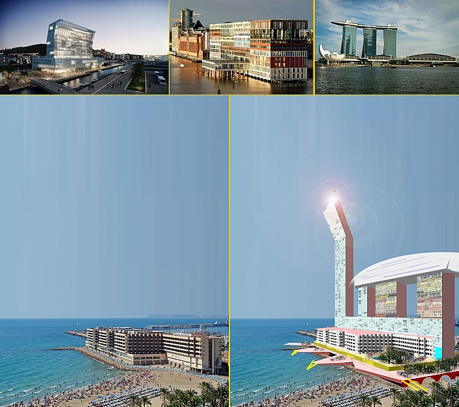 Propuesta de incremento de densidad de edificación en la zona de El Postiguet, y edificios de referencia