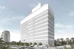 Alumed · Proyecto con control solar curvado · Hospital IMSKE