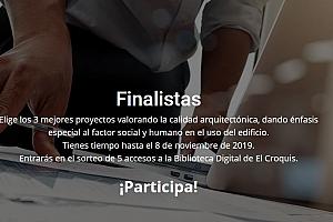 Votación del alumnado en el Premio Mapei a la Arquitectura Sostenible 2019