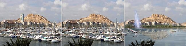 Imagen de portada: Diferentes visiones de Alicante con/sin Gran Sol, con/sin puerto deportivo.