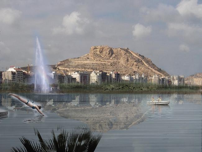 Propuesta de eliminación de Gran Sol y el puerto deportivo, creando un paseo verde y la mayor piscina de agua salada de Europa