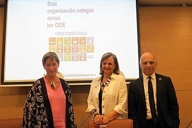 """La alta comisionada para la Agenda 2030: """"[Las profesiones] sois nuestro gran pulmón de aterrizaje de los ODS"""""""
