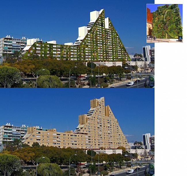 La Pirámide convertida en un gran jardín vertical