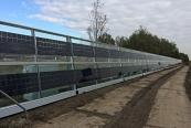 SOLAR INNOVA suministra 240 módulos fotovoltaicos BIPV para instalar en barrera acústica para carretera en Holanda