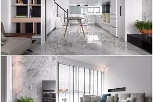 El mármol Portobello, protagonista en un proyecto de Zinarea Interior Design