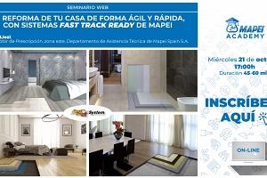 La reforma de tu casa de forma ágil y rápida, con sistemas FAST TRACK READY SYSTEM de MAPEI.
