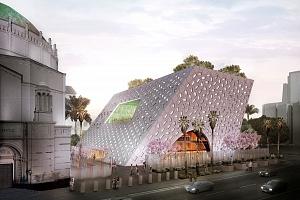 OMA de Rem Koolhaas presenta la primera imagen del espacio para eventos del Templo Wilshire Boulevard