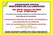 PROCESIÓN CIVICA MÁRTIRES DE LA LIBERTAD