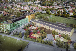 El futuro centro de secundaria Voldsløkka que se construirá en Oslo será un edificio de energía positiva