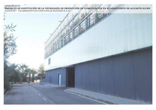 SUSTITUCIÓN DE LA TECNOLOGÍA DE PRODUCCIÓN DE CLIMATIZACIÓN EN EL AEROPUERTO DE ALICANTE- ELCHE . Alicante . Alacant . España