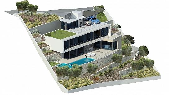 Casa Oos . Moraira . Alacant . España