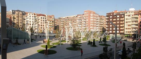 Plaza de Indautxu en Bilbao . Bilbao . Vizcaya . España