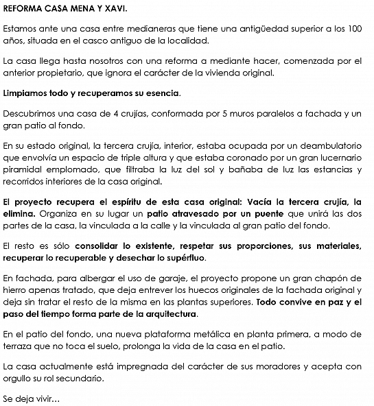Reforma Casa Mena y Xavi . Novelda . Alacant . España