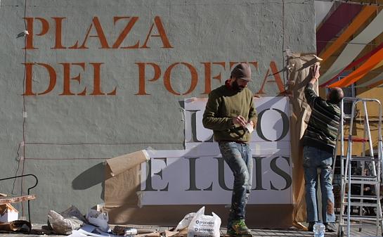 Plaza Poeta Leopoldo de Luis . Madrid . Madrid . España