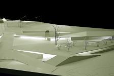 Dependencias municipales, plaza pública y estacionamientos en el Portal del Clot, Jávea . Jávea . Alacant . España . 2007