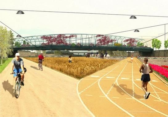 3er Premio Tratamiento Del Entorno Urbano De La Rambla De Nogalte . Puerto Lumbreras . Murcia . España