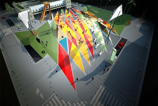 Propuesta para el Concurso de la Plaza Séneca . Alicante . Alacant . España . 2009