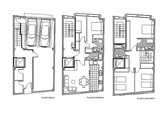 Dos viviendas unifamiliares entre medianeras - Vivienda entre medianeras ...
