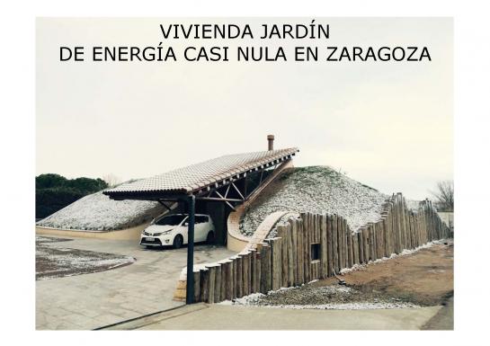 Vivienda-Jardín de consumo casi nulo . Zaragoza . Zaragoza . España