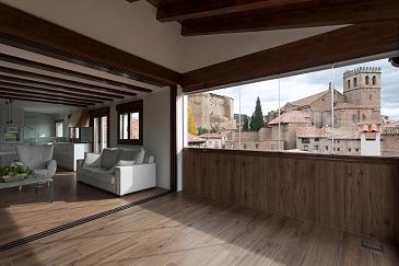 Casa entre el Castillo y el Huerto . Mora de rubielos . Teruel . España