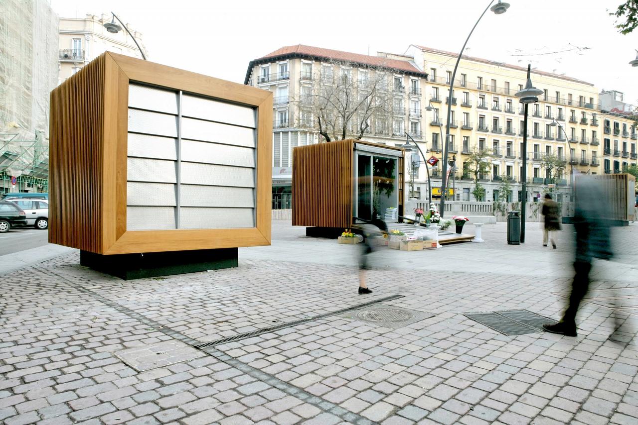 Vida Del Proyecto Puestos De Flores En Tirso De Molina # Muebles Tirso De Molina