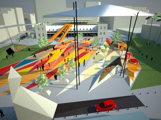 Propuesta para el Concurso de la Plaza Séneca . Alicante . Alacant . España