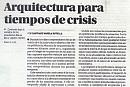 Arquitecturas en tiempos de crisis