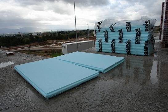 Aislamiento térmico e hidrófobo Cubiertas transitables, cubiertas invertidas