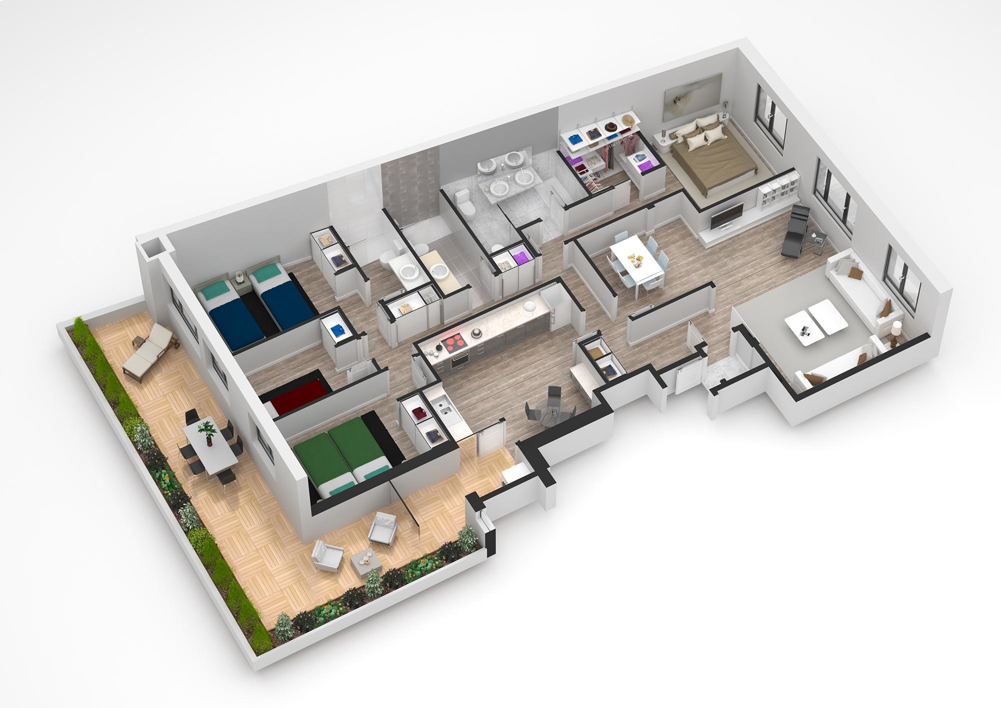 Planos 3d Fotograf A De Arquitectura
