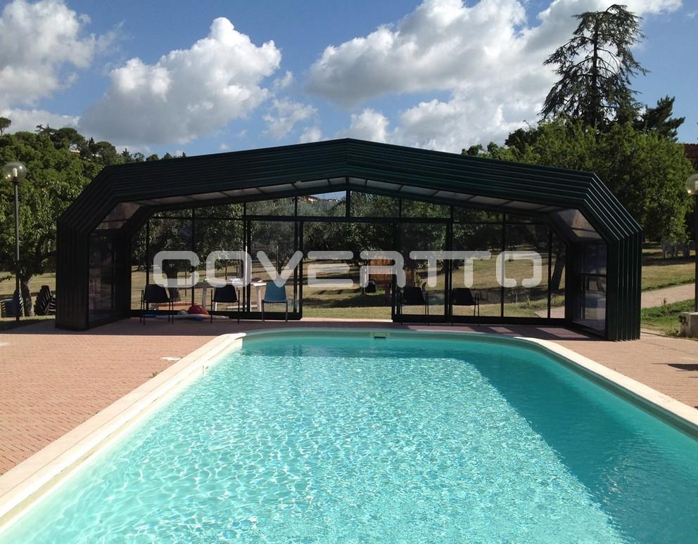 Cubierta de piscina casa rural cubiertas for Piscinas cubiertas salamanca