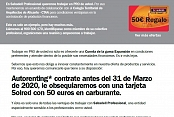 Autorenting* contrate antes del 31 de Marzo de 2020, le obsequiaremos con una tarjeta Solred con 50 euros en carburante.
