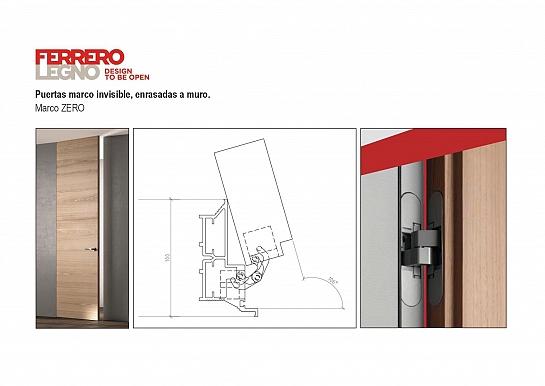 FerreroLegno - Puertas marco invisible, enrasadas a muro.