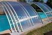 Cubierta de piscina curva