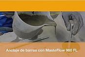 MasterFlow 960; mortero cementoso de rápido endurecimiento.