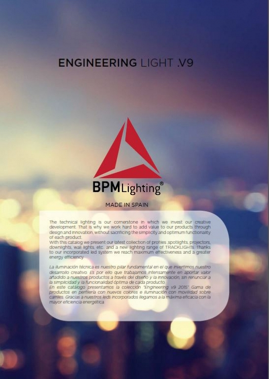 Catálogo de productos BPM Lighting Engineering V9