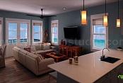 Diseño de interiores de sala de estar residencial - YantramStudio