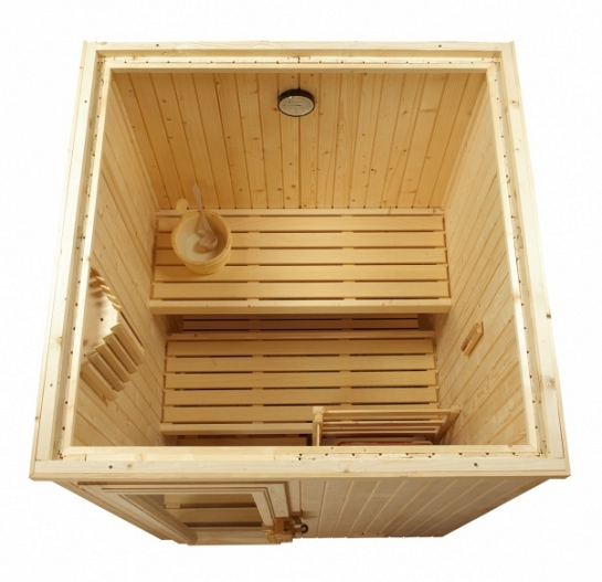 Saunas finlandesas de interior equipamiento de gimnasio - Productos para sauna ...