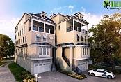 Ideas arquitectónicas del diseño exterior de la casa arquitectónica tradicional