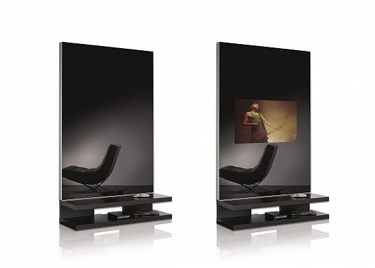 TV tras espejo